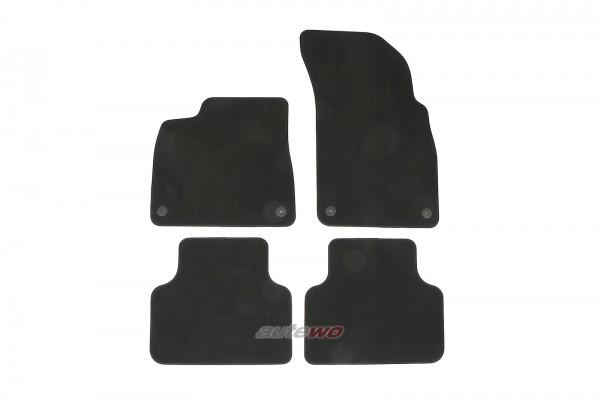 4M1863011F NEU Audi Q7/SQ7/Q8/SQ8/RSQ8 4M Velours Fußmattensatz original