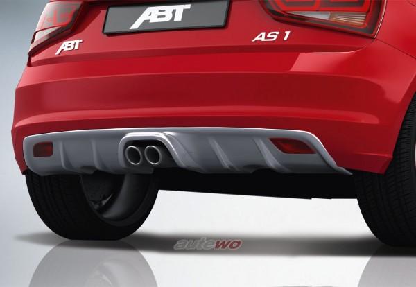 ABT Sportsline Audi A1 8X MJ. 2011 Diffusor/Heckschürzeneinsatz 8X0801130-AG