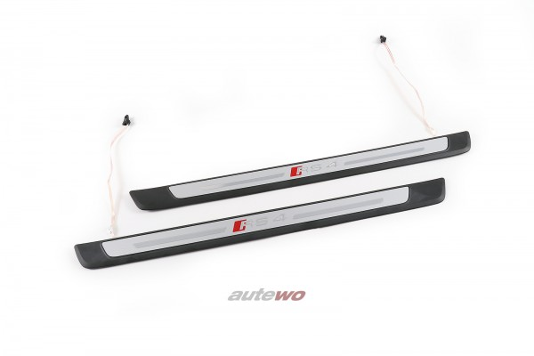 8W0947417B/8W0947418B NEU Audi RS4 8W/B9 RS4 Einstiegsleisten Beleuchtet