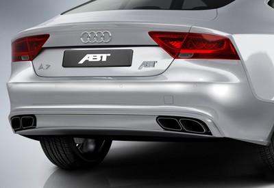 ABT Sportsline Audi Audi A7 4G 3,0 TDI Sport-Endschalldämpfer + Diffusor 2011-14