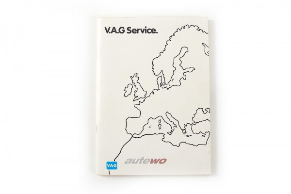 Audi/VW 80/90 Typ 89/100/200 Typ 44 V.A.G Service-Heft Bordmappe