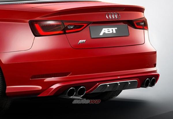 ABT Sportsline Heckschürzenset inkl. Endschalldämpfer Audi A3 8V