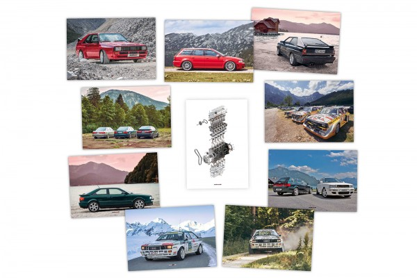 Postkarten-Set Audi quattro classics by autewo