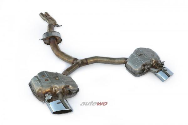 8W0253409K/8W0253609AA/8W0253610D NEU Audi RS4 B9 Abgasanlage Endrohre silber