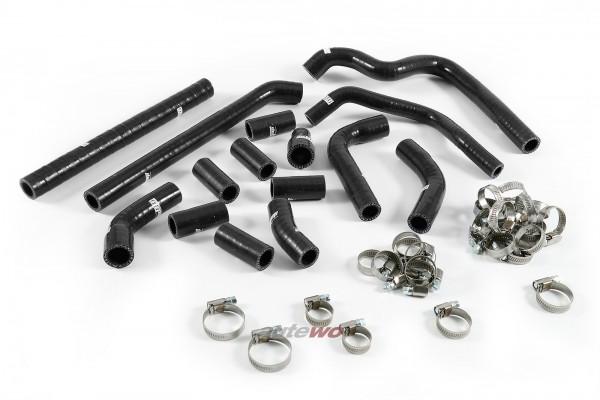 Silikon-Schläuche Kurbelgehäuse Entlüftung inkl. Schellen schwarz Audi RS6 4B