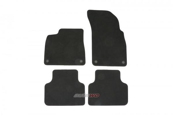 4M1863011F NEU Audi Q7/SQ7/Q8/SQ8/RSQ8 4M Velours Fußmattensatz soul schwarz