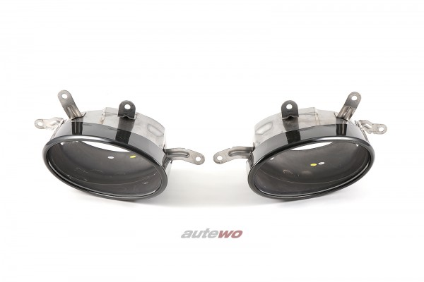 4M8253825B/4M8253826B Audi RSQ8 4M 4.0l TFSI Endrohrblenden Schwarz