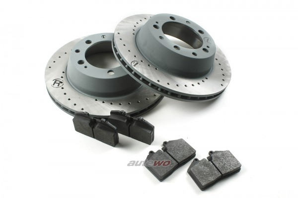 Audi RS2 Bremsscheiben 299x24mm gelocht + Beläge Hinten entsprechen 8A0615601D