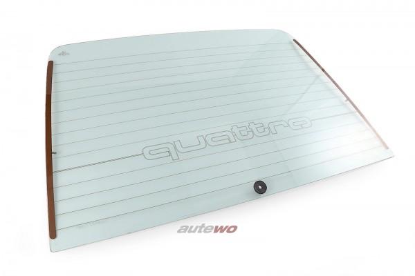 857845501C Audi Coupe Typ 85/Urquattro Heckscheibe quattro Schriftzug grün