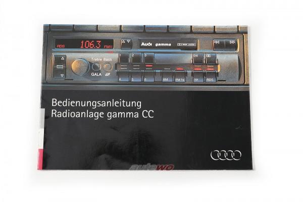 Audi 80 B4/Coupe/Cabrio 89/100/S4/A6/S6 C4/A8 Bedienungsanleitung Radio gamma