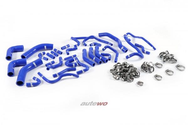 Silikon-Unterdruckschläuche inkl. Schellen blau Audi RS6 4B