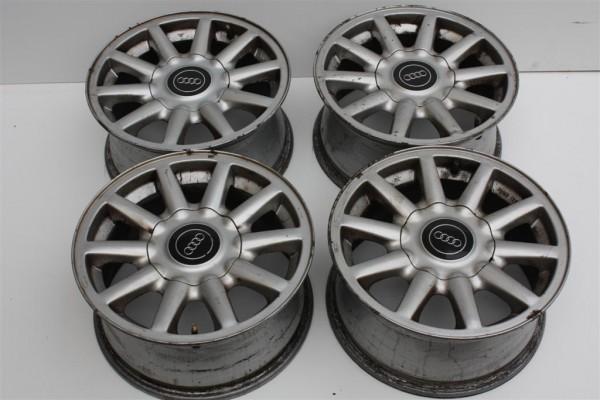 Audi 80 B4 original Alufelgensatz 10-Speichen 7Jx15 ET 37 LK 4x108 8A0601025C