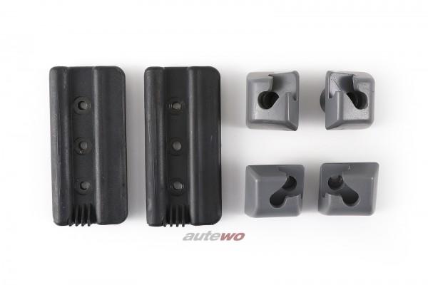 Audi A4 B5 Avant Set Halter/Einhängeösen Trennnetz/Netztrennwand dunkelgrau
