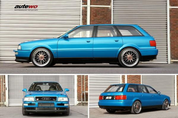 autewo-Poster DIN A2 Motiv 1/4 Meile Audi S2 Avant Maik Harder