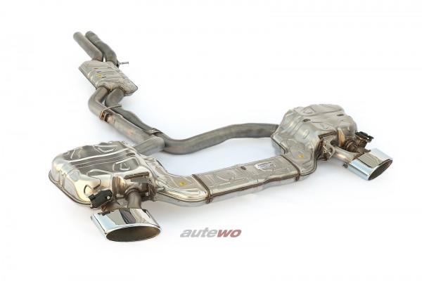 4K0253181CA NEU Audi RS6 C8/5G original Klappen-Abgasanlage silberne Endrohre