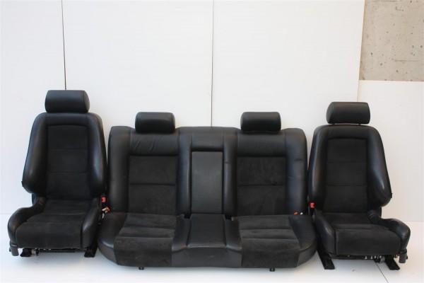 Audi A8/S8 D2 Limousine Innenausstattung Leder/Alcantara schwarz + Rollos+ 4x Sitzheizung