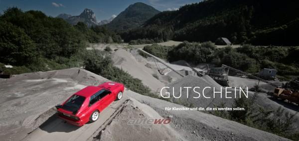 autewo-Geschenkgutschein 50 Euro Motiv Sportquattro als Geschenkkarte