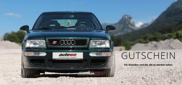 autewo-Geschenkgutschein über 100 Euro Motiv RS2 als Geschenkkarte