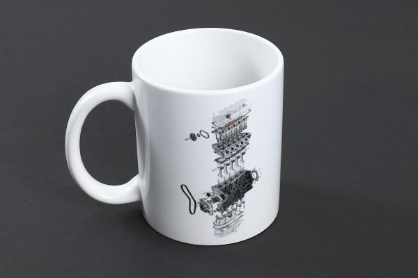 autewo-Kaffeetasse Audi 2.2l 5 Zylinder 20V Turbo Motor ADU Schnittmodell