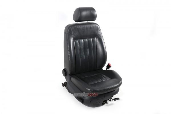 Audi A6/S6 4B Beifahrersitz Leder Cricket schwarz