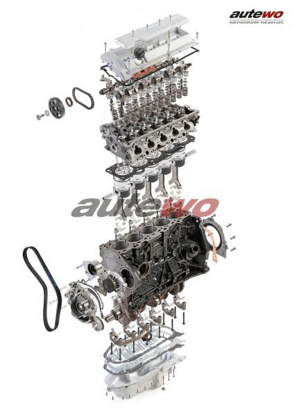 autewo-Poster DIN A2 Schnittzeichnung Audi 2.2l 5 Zylinder 20V Turbo Motor ADU