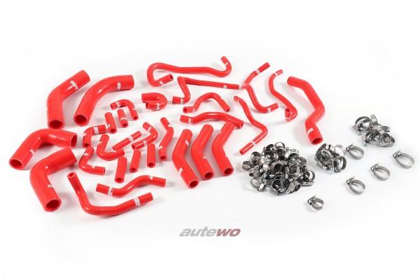 Silikon-Unterdruckschläuche inkl. Schellen rot Audi RS6 4B