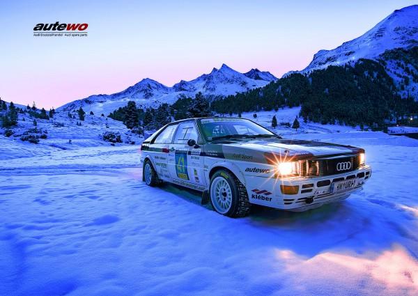 Poster DIN A2 Audi quattro Gruppe 4 Rallyeteam Maurer