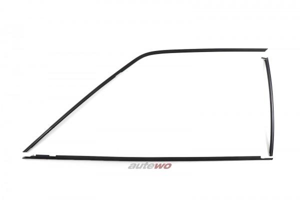 Audi Coupe Typ 81/85/Urquattro Set Zierleisten Seitenscheibe Vorne Links