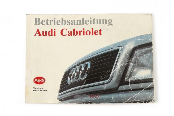 921.561.860.00 Audi Cabriolet Typ 89 Betriebsanleitung deutsch, Ausgabe 1991