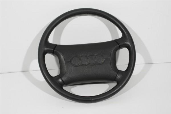 Audi 80/B4/100/C4/V8 Lenkrad 4-Speichen Leder ohne Schleifring 4A0419091C