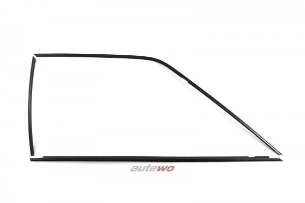 Audi Coupe Typ 81/85/Urquattro Set Zierleisten Seitenscheibe Vorne Rechts
