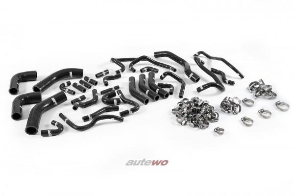 Silikon-Unterdruckschläuche inkl. Schellen schwarz Audi RS6 4B