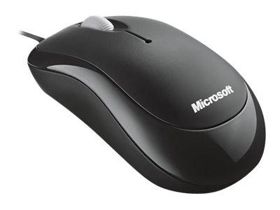 Microsoft Basic Optical Mouse - Maus - rechts- und linkshändig - optisch - 3 Tasten - kabelgebunden
