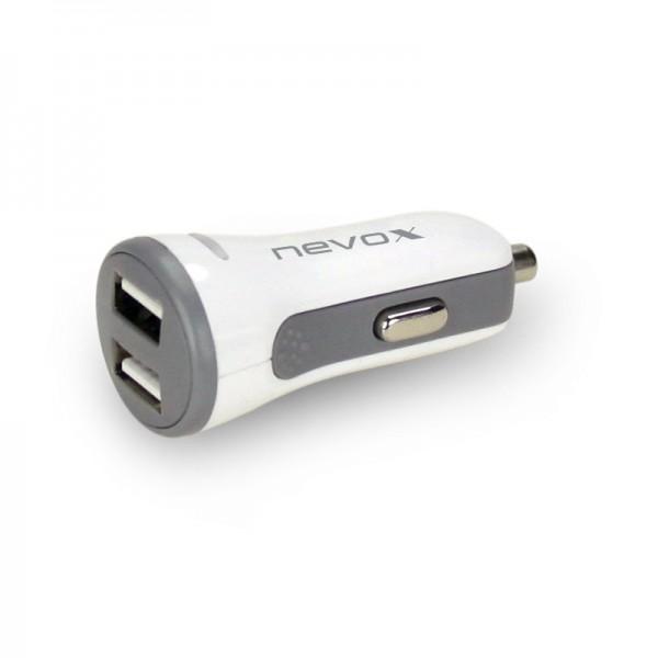 Nevox USB Dual port KFZ Ladeadapter AUTO-ID 4.8A / 24W (CC-1507) NEU & OVP