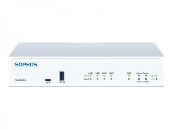 Sophos SD-RED 20 - Rev 1 - Fernsteuerungsgerät - 4 Anschlüsse - GigE