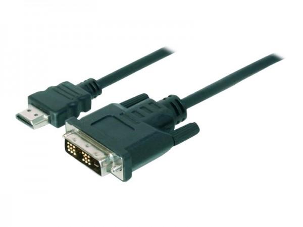 ASSMANN - Videokabel - HDMI (M) bis DVI-D (M) - 3 m - Doppelisolierung - Schwarz