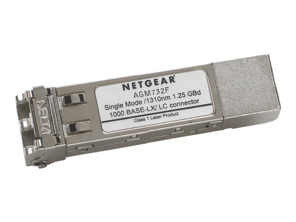 NETGEAR ProSafe AGM732F - SFP (Mini-GBIC)-Transceiver-Modul - GigE - 1000Base-LX - LC Single-Modus -