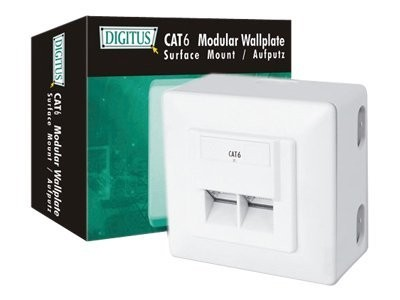 DIGITUS DN-9006-N - Wanddose - geeignet für Wandmontage - RJ-45 X 2 - RAL 9010