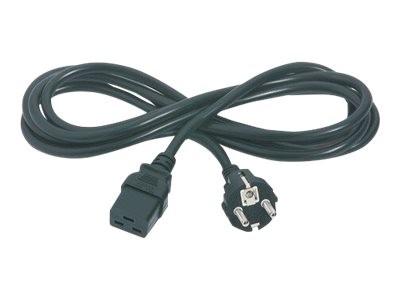 APC - Stromkabel - IEC 60320 C19 bis CEE 7/7 (M) - Wechselstrom 230 V - 2.5 m - Schwarz