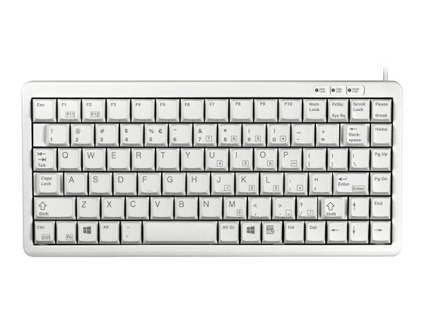 CHERRY Compact-Keyboard G84-4100 - Tastatur - USB - QWERTY - USA - Hellgrau