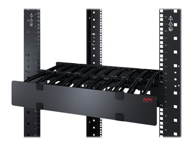 APC Horizontal Cable Manager Single-Sided with Cover - Rack-Kabelführungsplatte mit Abdeckung - Schw