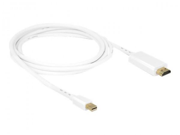 DeLOCK - Videokabel - DisplayPort / HDMI - Mini DisplayPort (M) bis HDMI (M) - 2 m - weiß