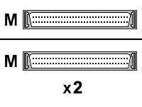 HP - SCSI - internes Kabel - SE - HD-68 (M) bis HD-68 (M) - 90 cm