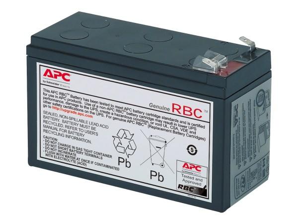 APC Replacement Battery Cartridge #17 - USV-Akku - 1 x Bleisäure 108 Ah - Schwarz - für P/N: BE700Y-