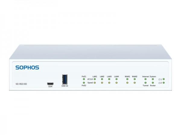 Sophos SD-RED 60 - Rev 1 - Fernsteuerungsgerät - 4 Anschlüsse - GigE
