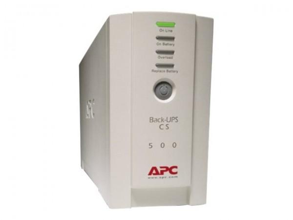APC Back-UPS CS 500 - USV - Wechselstrom 230 V - 300 Watt - 500 VA - RS-232, USB