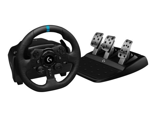 Logitech G923 - Lenkrad- und Pedale-Set - kabelgebunden - Schwarz - für PC, Sony PlayStation 4