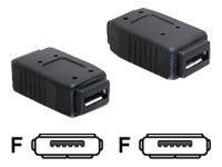 DeLOCK - Gender Changer USB - Mikro-USB Typ AB (W) bis Mikro-USB Typ AB (W)