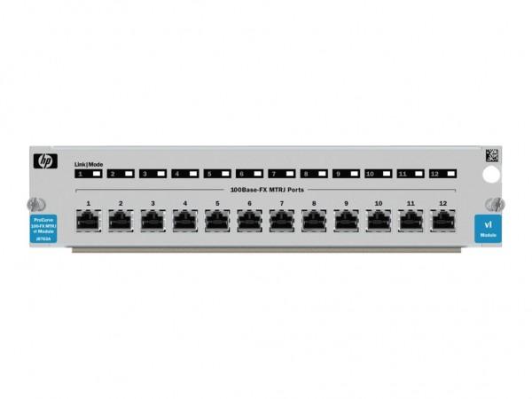HPE Switch vl 12-Port 100FX MTRJ Module - Erweiterungsmodul - 10/100 Ethernet x 12 - für HPE 4202-72
