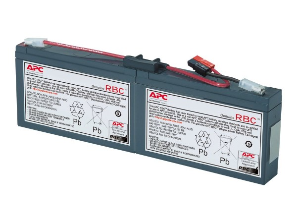 APC Replacement Battery Cartridge #18 - USV-Akku - 1 x Bleisäure - Schwarz - für P/N: AP1250RM, PRO8